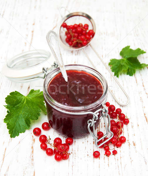 Redcurrants jam Stock photo © almaje