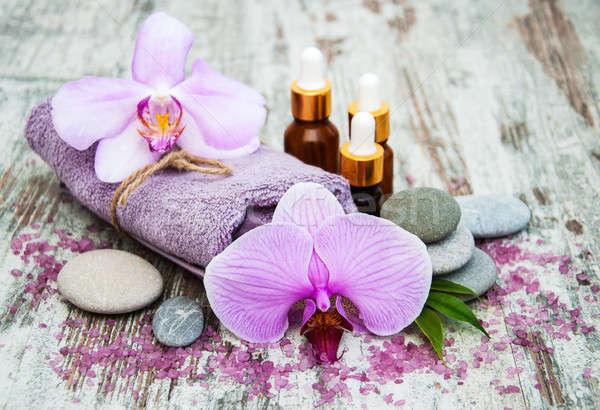Spa продукции Орхидеи массаж старые Сток-фото © almaje