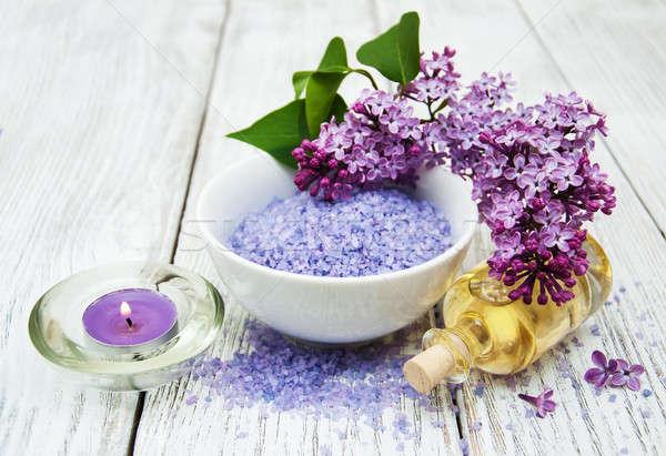 Сток-фото: Spa · сирень · цветы · массаж · продукции · цветок