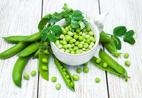 green peas on a table Stock photo © almaje