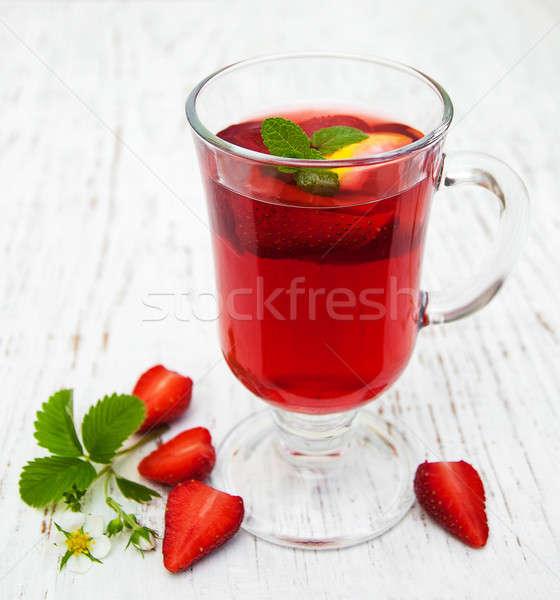 Summer strawberry drink Stock photo © almaje