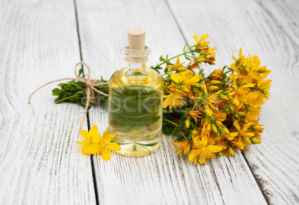 Bottle with St. John's wort extract Stock photo © almaje