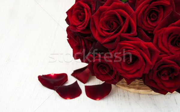 Fresh Red roses Stock photo © almaje