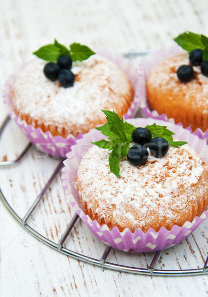 muffins with blueberry Stock photo © almaje