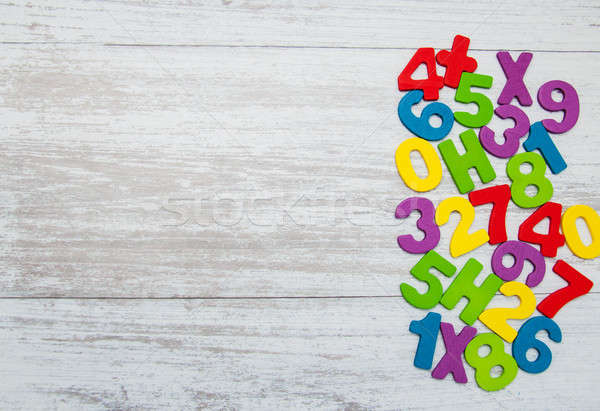 colorful wooden numbers Stock photo © almaje