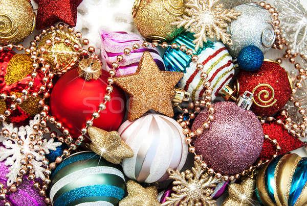 Stock photo: christmas decoration background