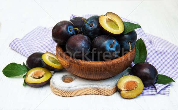 sweet plums Stock photo © almaje