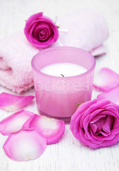 ванны розовый роз старые Сток-фото © almaje