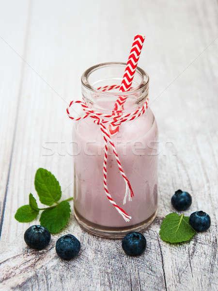 Garrafa iogurte tabela fresco Foto stock © almaje