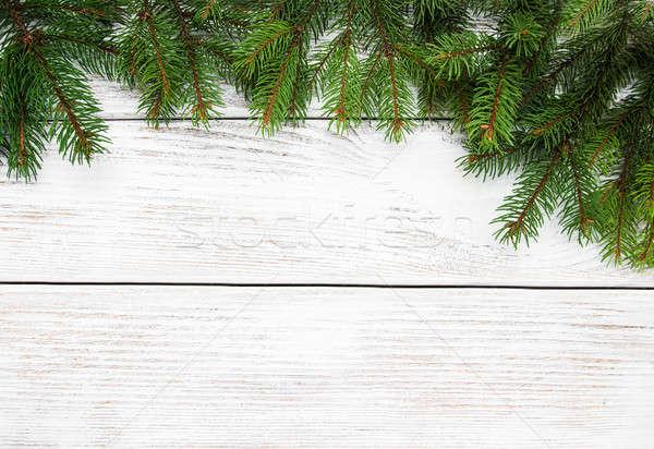 Foto d'archivio: Natale · vacanze · albero · tavolo · in · legno · texture · legno