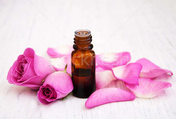 essential oil in glass bottle Stock photo © almaje