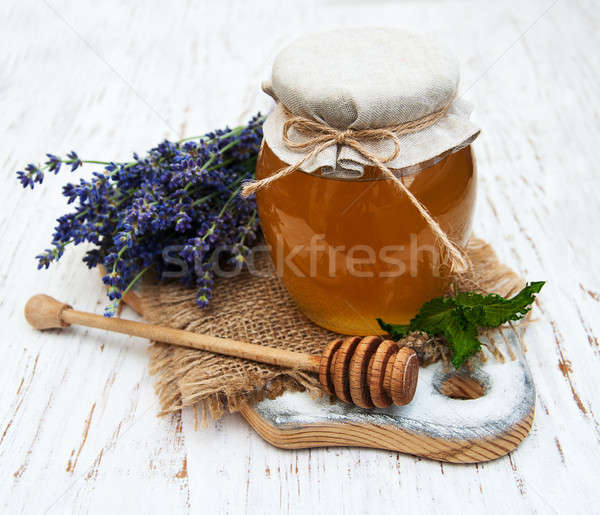 Honey and lavender flowers Stock photo © almaje
