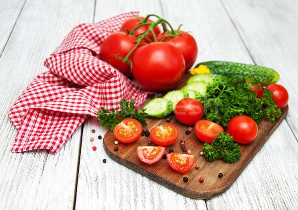 Cetriolo pomodori alimentare natura Foto d'archivio © almaje