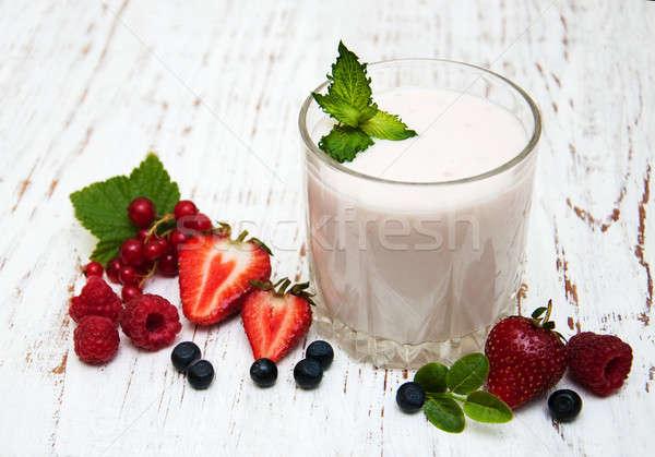 Iogurte fresco natureza verão Foto stock © almaje