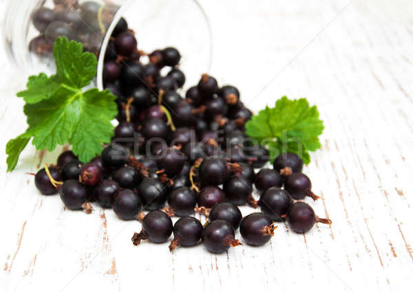 glass with black currant Stock photo © almaje