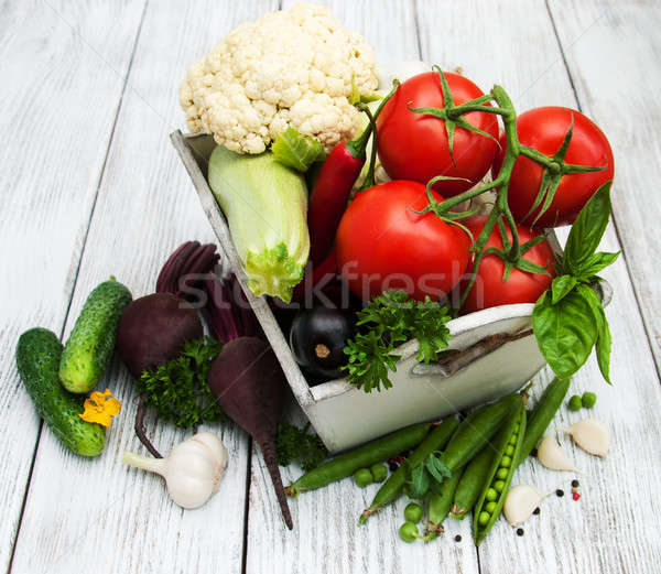 Fresh summer vegetables Stock photo © almaje