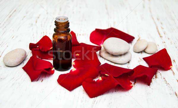 Rosa fiore petali aromaterapia vetro Foto d'archivio © almaje