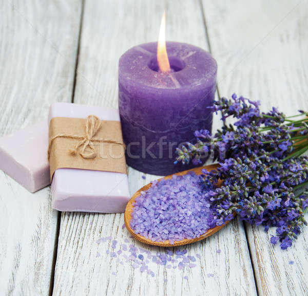 Lavender spa products and flowers Stock photo © almaje