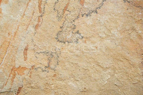 Brown ancient stone wall  Stock photo © almaje