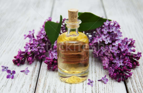 essential aroma oil with lilac Stock photo © almaje