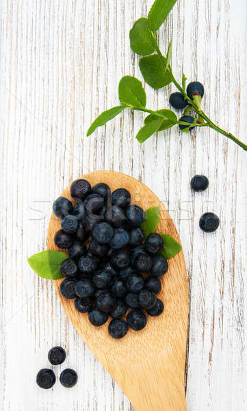 Blueberries on a old wooden background Stock photo © almaje