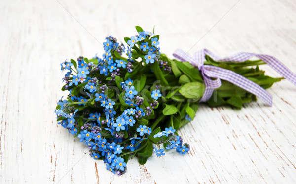 çiçekler şerit ahşap sevmek arka plan güzellik Stok fotoğraf © almaje
