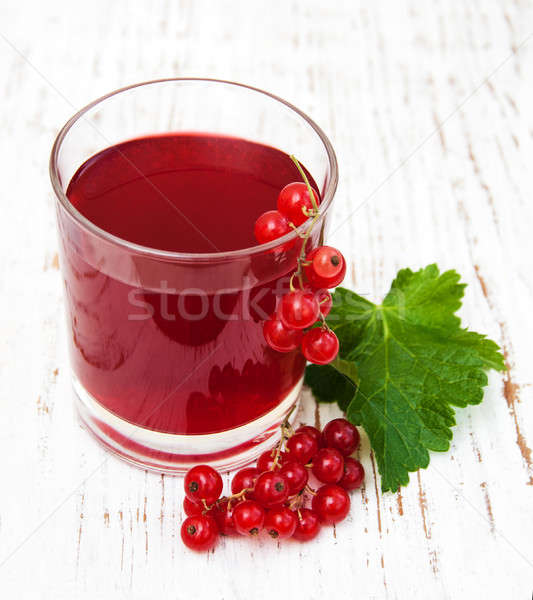 Glass of redcurrant lemonade Stock photo © almaje