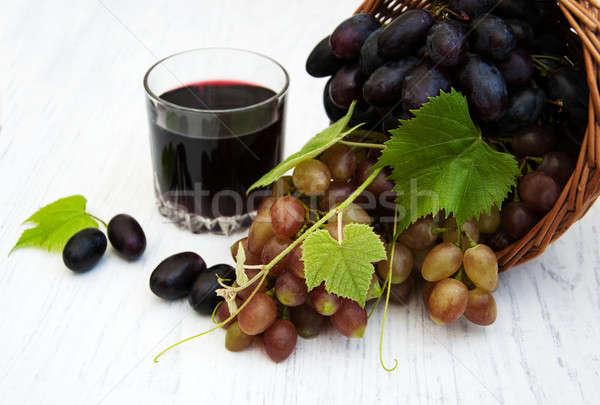Сток-фото: винограда · корзины · старые · природы
