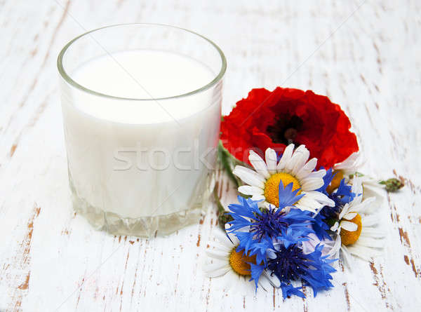Glass of milk Stock photo © almaje