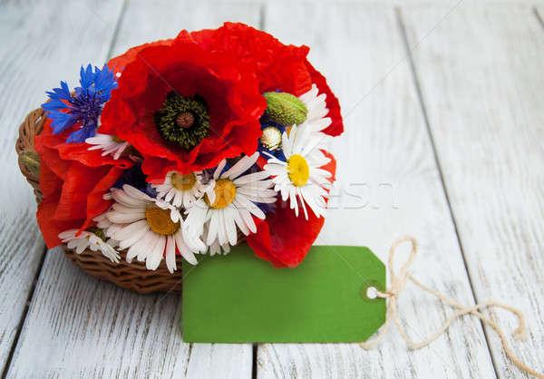 Сток-фото: букет · Полевые · цветы · Ромашки · цветок · бумаги