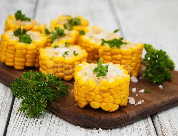 boiled corn on the cob Stock photo © almaje