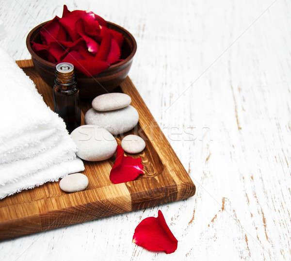 Rozenblaadjes steeg bloem bloemblaadjes aromatherapie Stockfoto © almaje