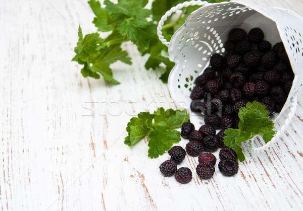 Fresh Blackberries Stock photo © almaje