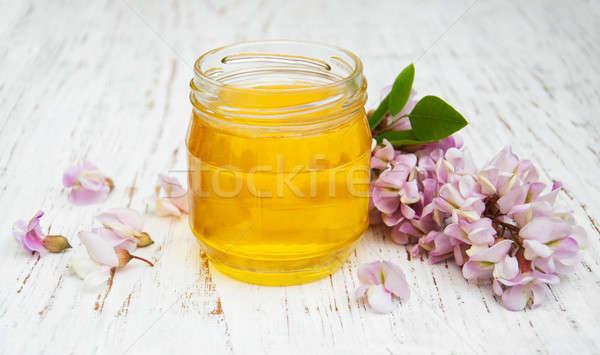 Miel flores flores alimentos forestales Foto stock © almaje