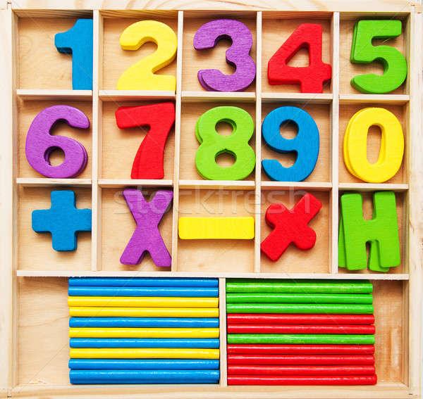 数学 子供 ゲーム 番号 木材 学校 ストックフォト © almaje
