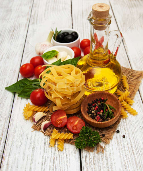 italian food ingredients Stock photo © almaje