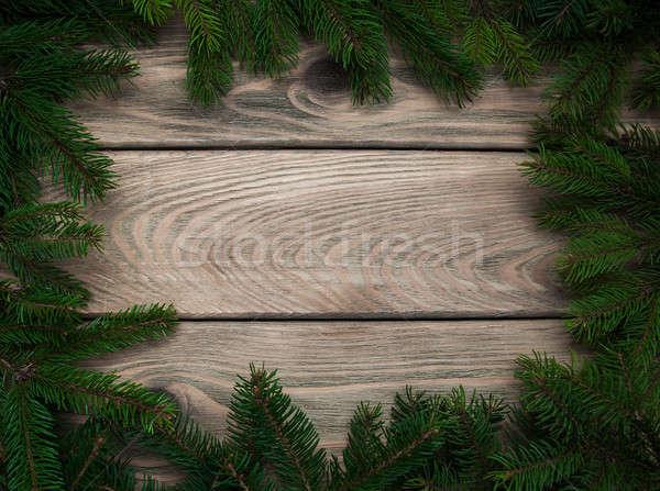 Christmas vakantie boom houten tafel textuur hout Stockfoto © almaje