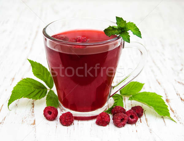 Glass of raspberry lemonade Stock photo © almaje