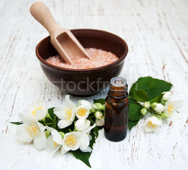 Bloem houten bloemen natuur lichaam Stockfoto © almaje