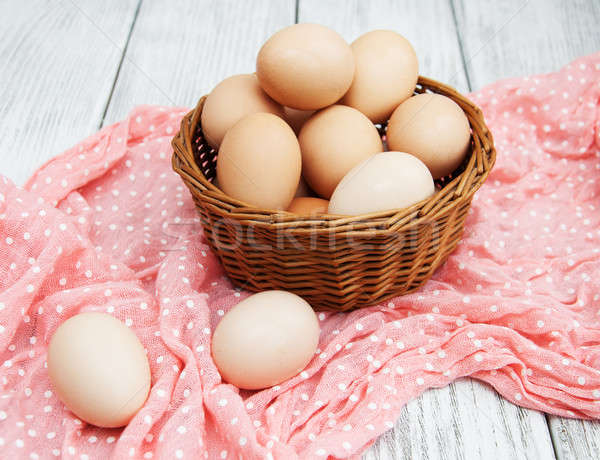 chicken eggs in basket  Stock photo © almaje
