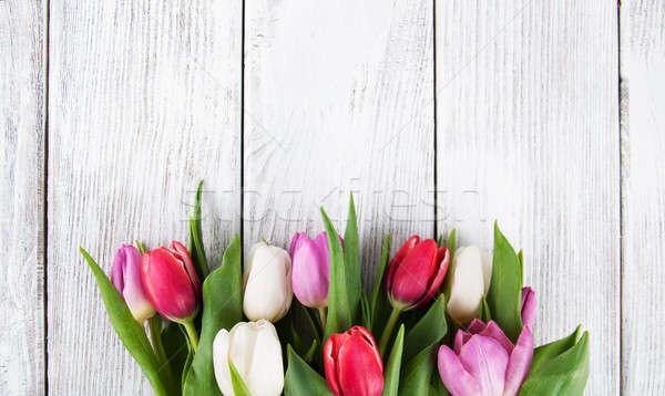 букет свежие весны тюльпаны цветы цветочный Сток-фото © almaje