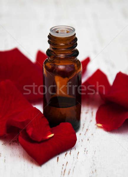 Pétales de rose rose fleur pétales aromathérapie Photo stock © almaje