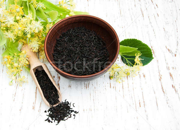Linden flowers and dry tea Stock photo © almaje