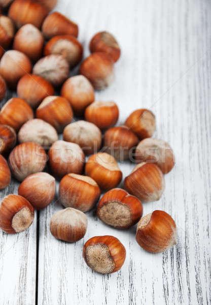 Mesa de madeira velho fruto tabela Foto stock © almaje
