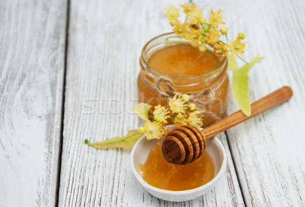Jar with honey Stock photo © almaje