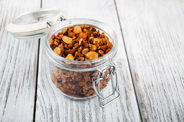 healthy breakfast granola Stock photo © almaje