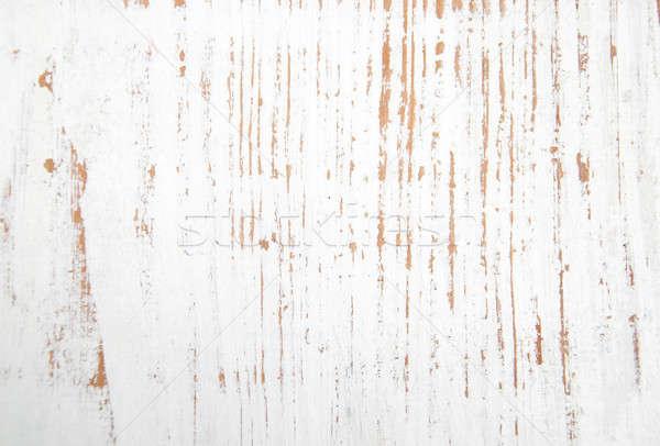 Fény fából készült deszkák fehér padló textúra Stock fotó © almaje