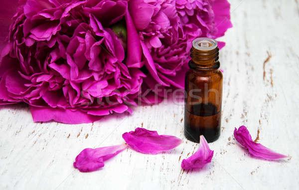 Bloemen massage olieverf houten bloem lichaam Stockfoto © almaje