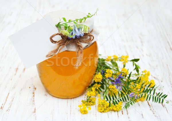 Miel flores silvestres flor primavera madera Foto stock © almaje