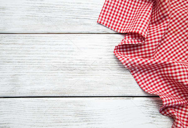 napkin on the wooden background Stock photo © almaje